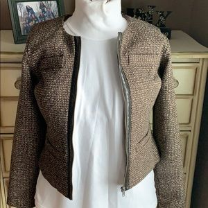 NWT Mossimo tweed zip up blazer